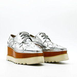 STELLA MCCARTNEY Elyse Metallic Star Platform Shoe